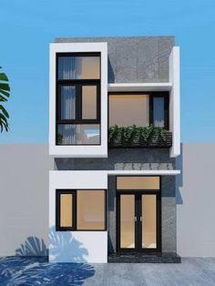 47 modern minimalist house design ideas for your 33 Duplex House Design, House Front Design, Small House Design, Modern House Design, Modern Minimalist House, Narrow House, House Elevation, Front Elevation, Dream House Exterior