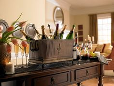 Many uses for the Fleur De Lis Bin and Tray- for drinks, Bathroom towels, firewood or a planter on your front porch.
