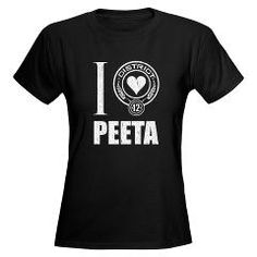 Hunger Games t-shirt: I Love/Heart Katniss with heart done in District 12 logo style all in carved stone look. [Hunger Games and Catching Fire art]