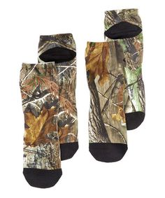 Loving this Real Tree Camo No-Show Socks Set on #zulily! #zulilyfinds