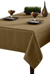 2. Benson Mills Gourmet Spillproof Fabric Tablecloth