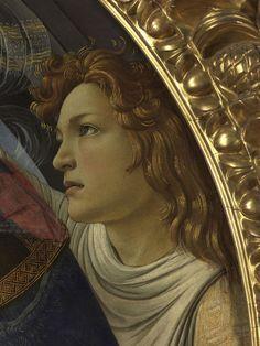 Boticelli - Madonna Magnificat, angel (detail