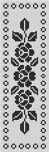 Home Decor Crochet Patterns Part 152 - Beautiful Crochet Patterns and Knitting Patterns Crochet Diagram, Crochet Chart, Thread Crochet, Filet Crochet, Crochet Doilies, Crochet Lace, Crochet Stitches, Cross Stitch Bookmarks, Cross Stitch Borders
