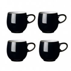 Denby Jet Black Small curve mug VALUE PACK - Tableking $132.99
