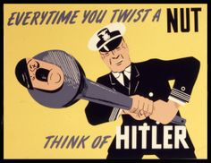 WW2 Poster Twist A Nut