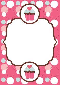 Invitación  (1143×1600) Birthday Clipart, Birthday Cards, Cupcakes Wallpaper, Cupcake Drawing, Cupcake Images, Cake Logo, Clip Art, Ideias Diy, Borders And Frames