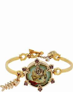 Betsey Johnson - VINTAGE KITTY HINGE BRACELET $38.00 - (Fall 2013, B08668-B01) http://www.betseyjohnson.com/Item.aspx?id=102963&np=917_922