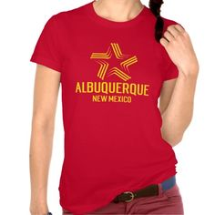 This ALBUQUERQUE NEW MEXICO city flag color inspired tee will be the talk of the town.  It's great for your city celebration or year round wear so show some city love and grab yours today. www.citystyletees.com
