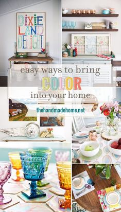 easy ways to bring color into your home