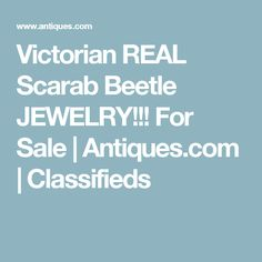 Victorian REAL Scarab Beetle JEWELRY!!! For Sale | Antiques.com | Classifieds