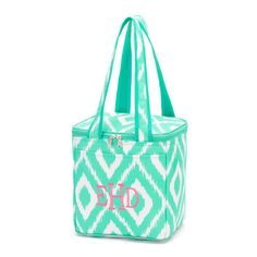 a12c09e759 Mint IKAT Insulated Lunch Cooler Tote – Brookshire Boutique
