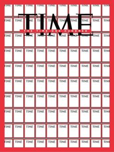 """""""The Time One Hundred""""   Time Magazine   design by Chip Kidd"""