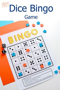 Any counting game for kids that includes dice is a big hit! This Dice Bingo game is great for counting and matching. A FREE printable math game for kids is best played in pairs. #countinggame #kids #mathgame #dicegame #bingo Bingo Games Free, Bingo Games For Kids, Math Activities For Toddlers, Printable Bingo Games, Dice Games, Free Printable, Counting Games, Early Math, Math Concepts