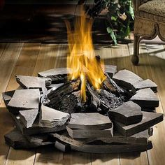 Outdoor Patioflame Stainless Steel Firepit - Natural Gas