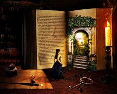 Books... the ultimate magic portal.                   From fairyuniverse on Tumblr
