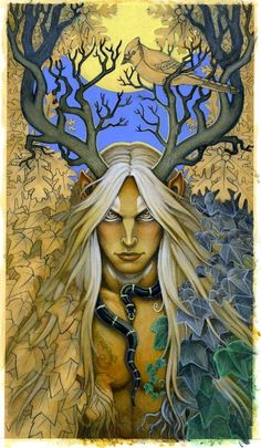 "Patron God: Cernunnos Art By WIP ""Lord of the Wilds."" Merindah: Also known as Shiva."
