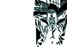 """Dibujo de José Muñoz para la edición ilustrada de """"El extranjero"""" de Albert Camus."""