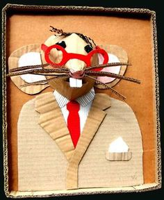 mixed media a la cardboard/construction paper. Cardboard Sculpture, Cardboard Crafts, Paper Crafts, Cardboard Relief, Art Carton, Egg Carton Crafts, 3d Art Projects, School Art Projects, Arte Elemental