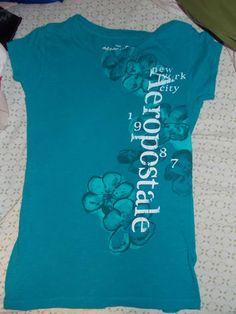 #Aeropostale Floral Teal Shirt. Size Medium ebay Fashions. #ebay