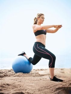 """Lindsey Vonn sweats by one principle: """"I do everything I can to get in shape,"""" she says. With a training day that begins before breakfast and ends at 5 p., her repertoire includes """"a thousand different exercises."""" She let us in on five faves that will h Lindsey Vonn, Fit Girl Motivation, Fitness Motivation, Exercise Motivation, Exercise Routines, Skiing Workout, Minnesota, Workout Essentials, Different Exercises"""