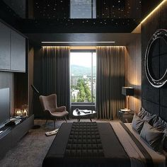 37 Wonderful Luxury Bedroom Design Ideas You Will Love - If you've ever watched Lifestyles of the Rich and Famous, you are familiar with what luxury bedroom decor is. It is defined by it's beauty, material, . Men's Bedroom Design, Home Decor Bedroom, Lux Bedroom, 1930s Bedroom, Men Home Decor, Bedroom Romantic, Bedroom Interiors, Bedroom Boys, Childrens Bedroom