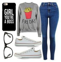 """""""Fry-Day"""" by aewoodhead03 on Polyvore featuring Topshop, Adolescent Clothing and Converse"""