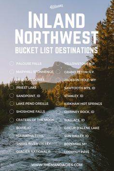 This includes states like Washington Oregon Idaho Montana and Wyoming. Save this pin for outdoor travel inspiration later and click the link for more United States travel tips! Montana, Bucket List Destinations, Travel Destinations, Cool Places To Visit, Places To Travel, Travel Usa, Travel Tips, Travelling Tips, Travel Goals
