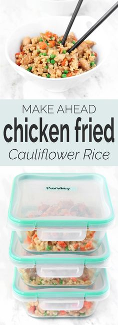 Chicken Fried (CAULIFLOWER) Rice