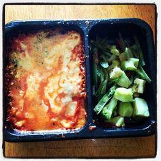 Portobello mushroom lasagna & veggies Diet-to-Go