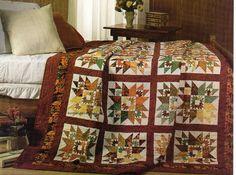 Leaf In A Leaf Quilt Pattern Pieced/Paper Pieced DM