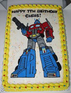 Star Wars Birthday, Teen Birthday, Boy Birthday Parties, Birthday Cakes, Birthday Ideas, Transformer Birthday, Transformer Cake, Birthday Presents For Grandma, Transformers Birthday Parties