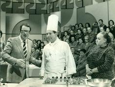 """#""""A tavola alle 7"""" programma del 1976 con Ave #Ninchi con Luigi #Veronelli e Giorgio #Gioco di Verona"""