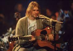 Kurt Cobain performing 'MTV Unplugged' on November 18, 1993