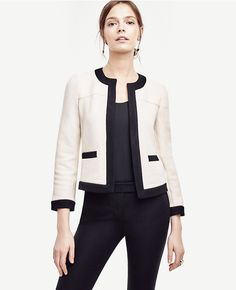 Chanel look without the price tag from Ann Taylor. My brooches will look super cute pinned to the shoulder area!