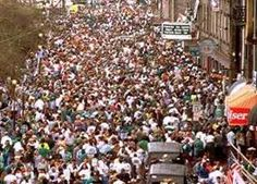 Best party is on River Street - Welcome to Savannah for St. Patty's Day!