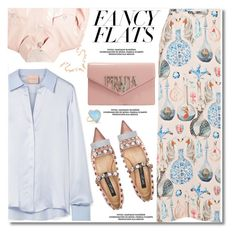 """Magic Slippers: Fancy Flats"" by paculi ❤ liked on Polyvore featuring Shrimps, Temperley London, Roksanda, Jennifer Meyer Jewelry and chicflats"