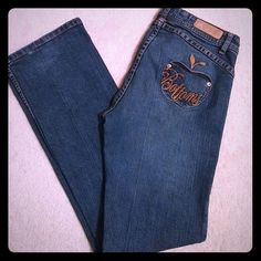 Apple Bottoms Jeans Boot cut jeans. Like new with apple shaped back pockets. Only worn once. Apple Bottoms Jeans Boot Cut