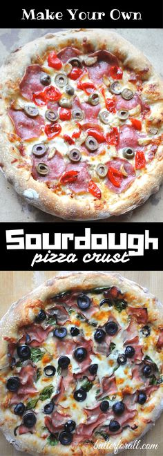 Learn How To make Sourdough Pizza Crust Easy Sauce Recipe, Sauce Recipes, Real Food Recipes, Cooking Recipes, Pizza Recipes, Crust Recipe, Cooking Games, Kitchen Recipes, Bread Recipes