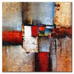 Rio 'Cube Abstract VI' Square Canvas Art   Overstock.com Shopping - The Best Deals on Gallery Wrapped Canvas