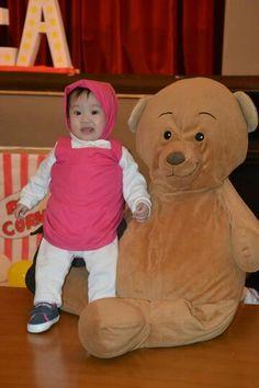 Masha and the bear baby costume