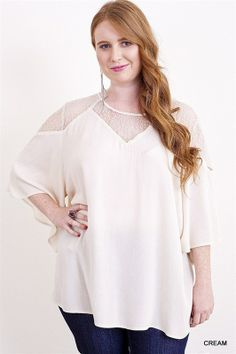 Cream Lace Sweetheart Top -