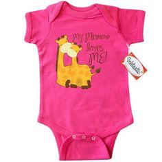 Inktastic My Memaw Loves Me! Infant Creeper Baby Bodysuit Grandma Me Giraffe Gift Loved By Greatest Grandmas House Spoils Grandkids One-piece, Infant Boy's, Size: 12 Months, Pink