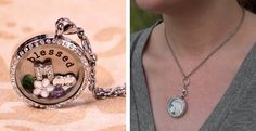 Customized Floating Locket- includes your choice of Stamped Plate and FIVE Charms!