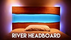 Live Edge Epoxy River Headboard (or Table) with LED Lights // How To Bui...