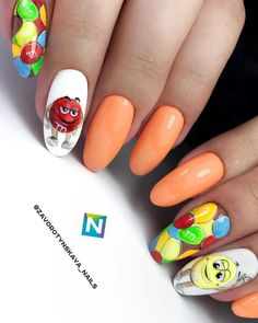Amazing Tips For The Best Summer Nails – NaiLovely Disney Acrylic Nails, Cute Acrylic Nails, Pastel Nails, Toe Nail Art, Creative Nail Designs, Best Nail Art Designs, Creative Nails, Multicoloured Nails, Nail Problems