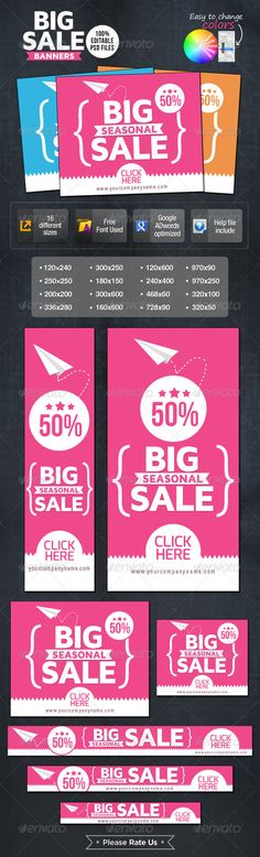 Big Sale Banners - Banners & Ads Web Elements