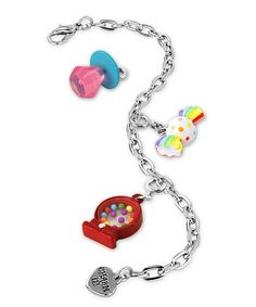 Silver Candy Charm Bracelet - I loved mine when I was a kid! It was plastic and I had TONS of charms!