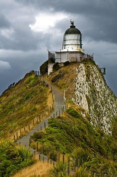 Nugget Point Lighthouse	Otago region of the	 South Island 		New Zealand 	-46.448148, 169.817562