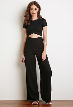 Layered-Front Crop Top   Forever 21 - 2000154598