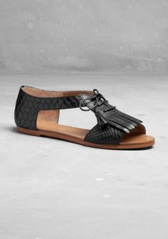Leather sandals - & other stories